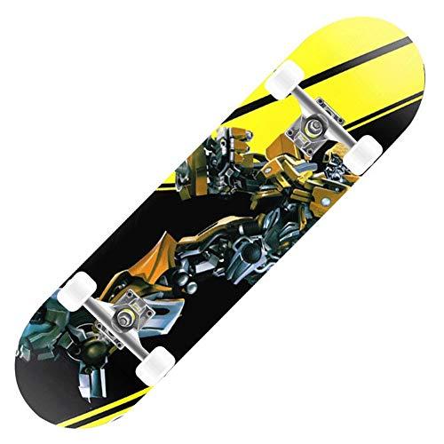 Love your life Mini Skateboard Complete Skateboard 31-Zoll-Transformator Hornet Patterned Profi Skateboard