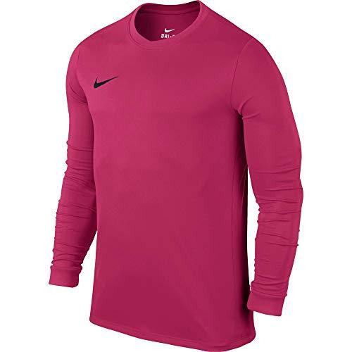 Nike LS Park Vi JSY Camiseta de Manga Larga, Hombre, Rosa (Vivid Pink/Black), M