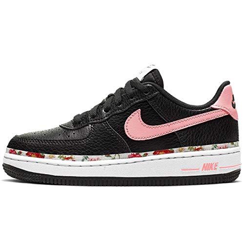 Nike Mädchen Force 1 VF (PS) Basketballschuhe, Mehrfarbig (Black/Pink Tint-White-Pale Ivory 001), 33.5 EU