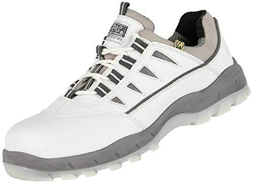 Nitra Sport Step S3 veiligheidsschoenen, laag, SRC ESD, sneakers, werkschoenen, veiligheidskap van composiet, wit