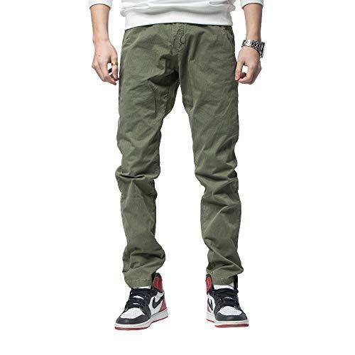 Tony Backer Pantaloni Casual e Pantaloni Cargo o Jeans da Uomo (Verde, 34)