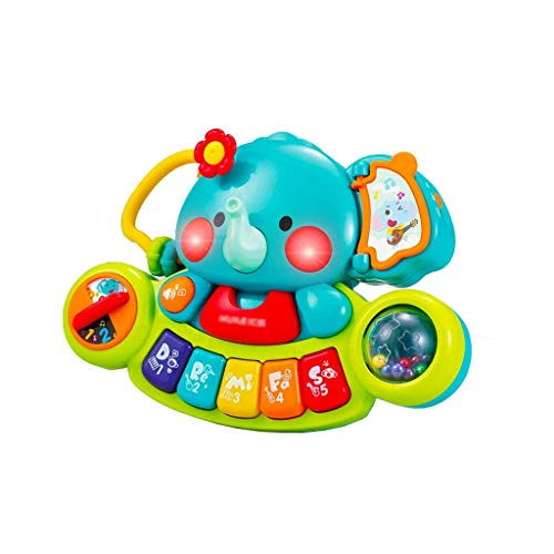 Digitale piano Muziek speelgoed olifant Finger Exploration Training Piano Kinderen Piano Early Education Puzzel 3 Years Old Music Keyboard Toy (Kleur: Multi-gekleurde) (Color : Multi-colored)