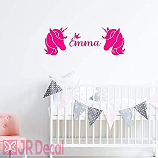 Unicorn name Personalised wall stickers, vinyl Wall decal for girls room, personalised baby girls nursery Unicorn sticker, Unicorn Wall Sticker for girls, Nursery name stickers