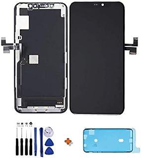 MECRAN - Pantalla para iPhone 11 Pro LCD de repuesto de cristal táctil completo montado con junta de sellado, herramienta ...