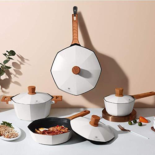 LGR MAI Fanshi Olla Antiadherente Wok sin Humo Sartén Cocina de inducción de Gas Juego de ollas y sartenes de Cocina de Uso General