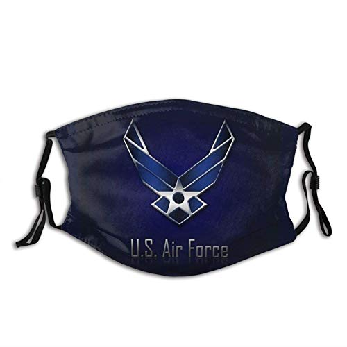 vipsung USAF Veteran Face Cover Bandanas Balaclava, Washable Reusable with 2 Filters, for Man & Women
