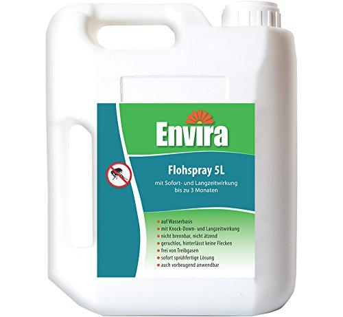 Envira Floh-Spray - Anti-Floh-Mittel Mit Langzeitwirkung - Geruchlos & Auf Wasserbasis - 5 Liter