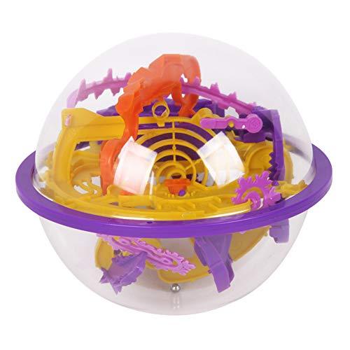 3d Flying Disc Maze bola creativa de los niños Educación de la Primera laberinto globo Juguetes Barreras desafiantes Portable Puzzle Toy imaginación de entrenamiento espacial de juguete
