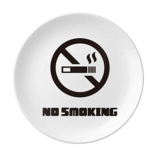 No Smoke Happy Body Teller, dekoratives Porzellan, Salver Geschirr