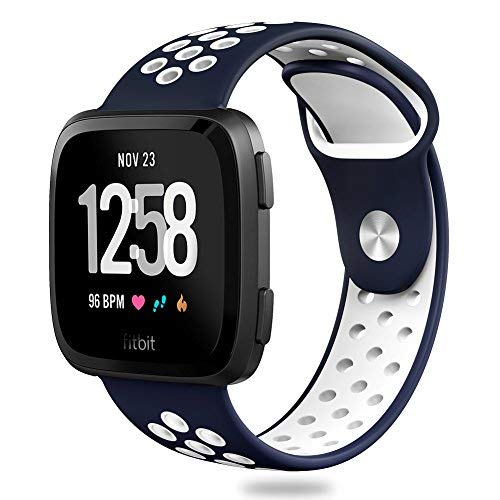 Hagibis Bands Compatible with Versa Sport Silicone Replacement Strap,Breathable Accessories Wristband for New Versa Smart Fitness Watch
