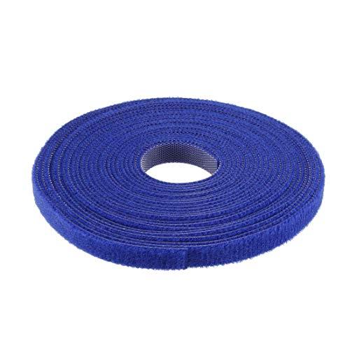 DyniLao Sujetacables reutilizables 5m 16.4ft Correas de alambre Sujetador de cable ajustable Azul