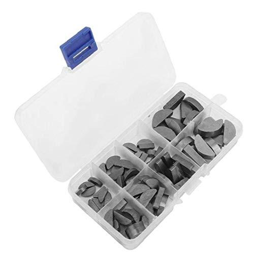 linjunddd Metall Woodruff Keys Halbkreis Sortiment Box Kit Set Verschiedene Größen 80pcs