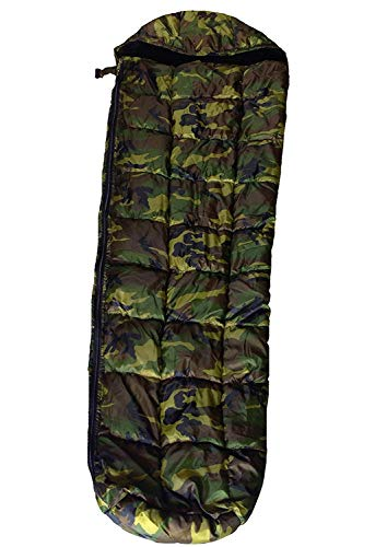 Sleeping Bag in Waterproof Jungle Print with Ultrasoft warmed Inner (Packed in: Compression Sack)