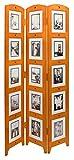 'kieragrace KG Providence Large Triple Panel Room Divider Collage Picture Frames - Chestnut, 47'' by 71''', brown (PN09240-4)