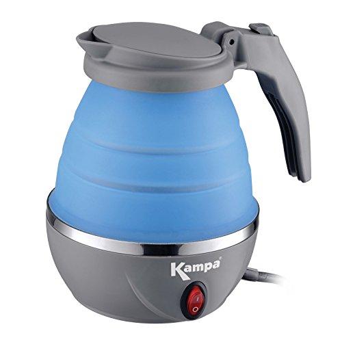 Faltbarer Camping Wasserkocher mit Einem Silikonkörper 0,8 Liter nur 1000W • Silikon Tee Kessel Wasserkessel Küche Outdoor 0,8 L