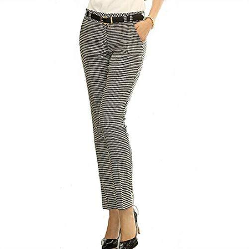 U/A Otoño de las Mujeres Delgado Casual Pantalones de Trabajo de la Carrera de Pata de Gallo Pantalones Rectos Lápiz Pantalones de las Mujeres Pantalones