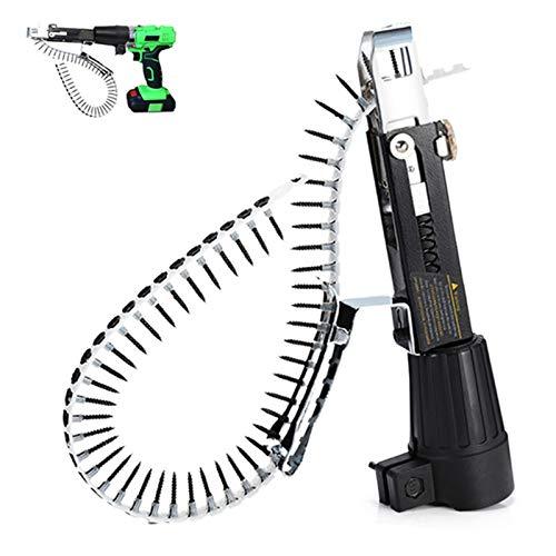 Pistola de yeso Clavadora de cadena de clavos de tornillo automática eléctrica...