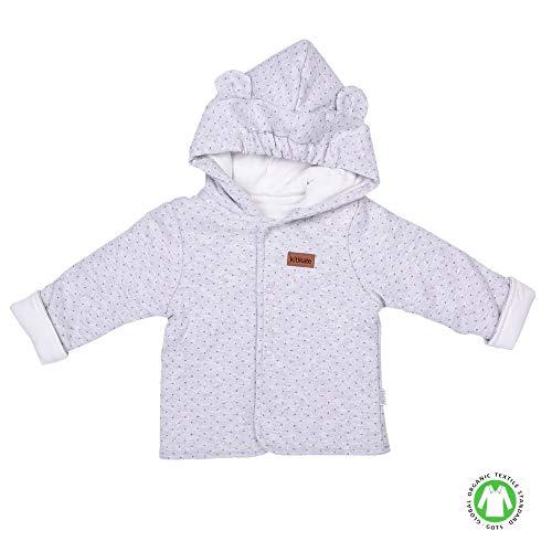 Sevira Kids - Cardigan bébé à capuche - gilet en coton biologique