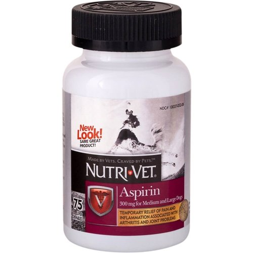 Nutri-Vet K-9 Aspirin Large Dog 75 Chewable Tablets