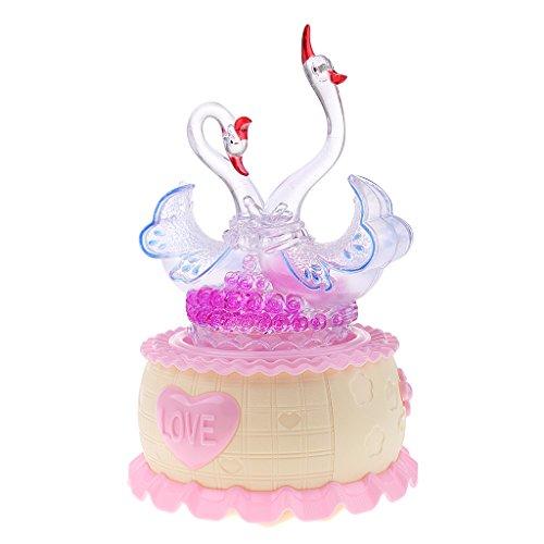 MagiDeal Boîtes à Musique LED Lumière Rotation Automatique Motif Animal Mécanique Chanson Cadeau d'anniversaire Créatif - # 4