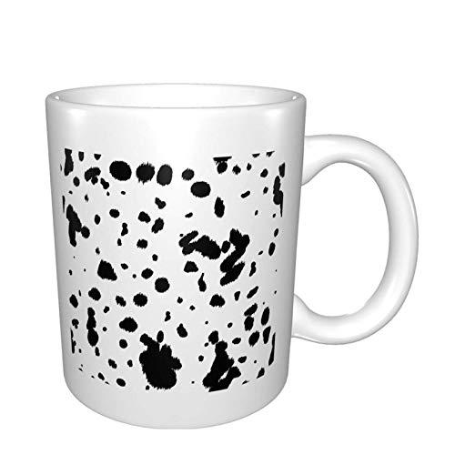 Bla and White Vow Skin Animal Print Bright Multi Grandes Tazas de porcelana para café, té, cacao tazas de cerámica 11 oz