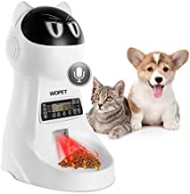 WOPET Pet Feeder,Automatic Cat Feeder Pet Food Dispenser Feeder Medium Large Cat Dog——4 Meal, Voice Recorder Timer Programmable,Portion Control