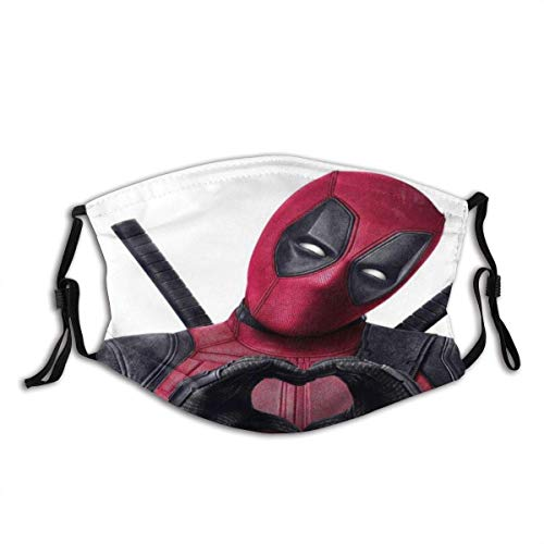 Face Cover Deadpool Balaclava Unisex Reusable Windproof Anti-Dust Mouth Bandanas Outdoor Camping Motorcycle Running Neck Gaiter for Teen Men Women face masks washable