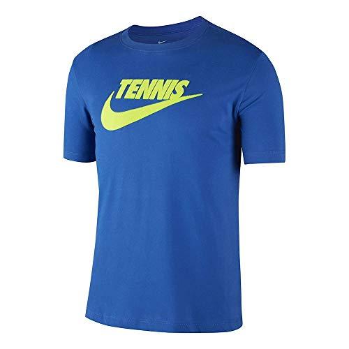 NIKE M Nkct tee Dfct Tennis GFX Camiseta, Hombre, Game Royal/Volt, L