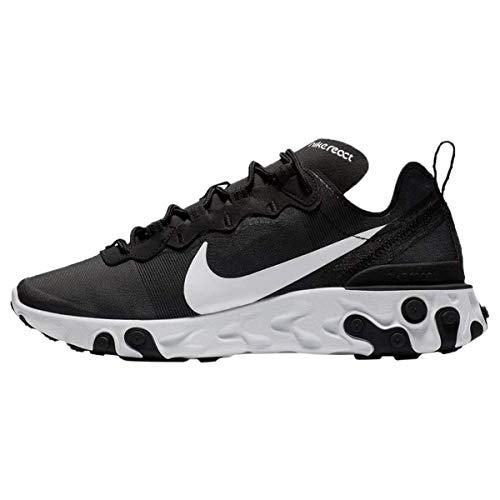 Nike W React Element 55, Zapatillas de Running Mujer, Negro (Black/White 003), 38 EU
