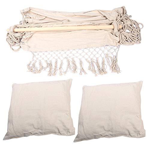 Esenlong Silla colgante interior al aire libre del jardín de la hamaca del oscilación del cojín del asiento con dos almohadas