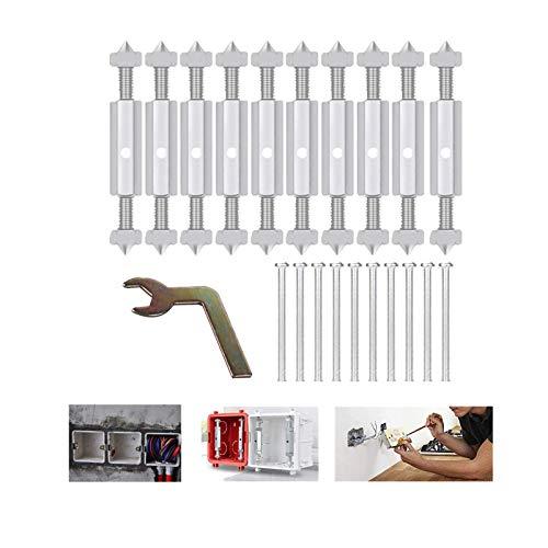 Tornillos de Casete Kit de Varilla de Soporte,Herramienta de ReparacióN de Accesorios EléCtricos de Caja De Interruptor de Montaje en Pared,Adecuado para Caja Inferior de Enchufe de Interruptor.