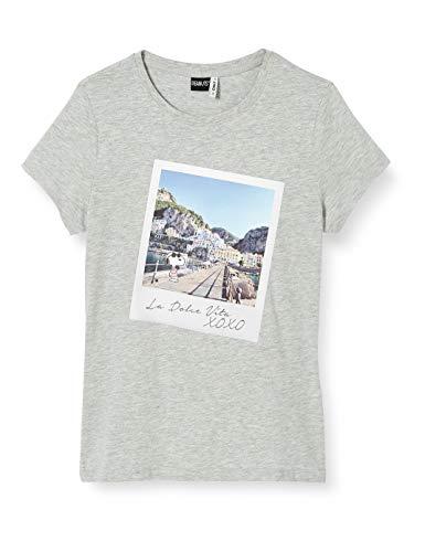 ONLY Damen ONLPEANUTS Life FIT S/S Photo Box JRS T-Shirt, Light Grey Melange, S
