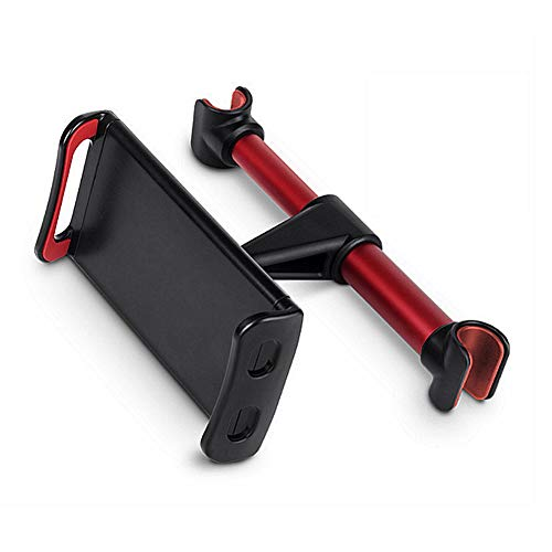 WYQ Tablet Holder, Car Headrest Mount : Universal 360 Rotating Car Seat Stand Cradle for All 4.4~11' Tablets, Pad Pro 9.7, 10.5, Air Mini 2 3 4,Red