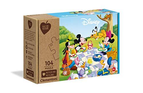 Clementoni Play For Future-Disney Mickey Classic-104 pezzi-materiali 100% riciclati-Made in Italy, puzzle bambini 6 anni+, 27153