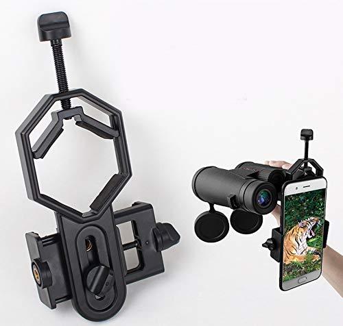 Jevogh Universal Telescope Camera Adapter, GR36 Cellphone Adapter Mount Clip Bracket Mount Holder Compatible with Binoculars Monocular Spotting Scope Astronomical Telescope and Microscope