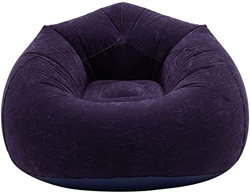 SWNN Gaming Chair Buying aufblasbare Sitzsack Sofa mit Pumpe und Flecken, super bequemen Fauler Lounger Bean Bag Chair wasserabweisendem Material for Erwachsene und Kinder - 110x110x85cm