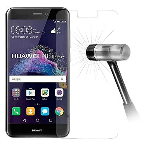 Cracksin 2 protectores de pantalla para Huawei P8 Lite (2017), cristal protector de pantalla 9H, vidrio templado