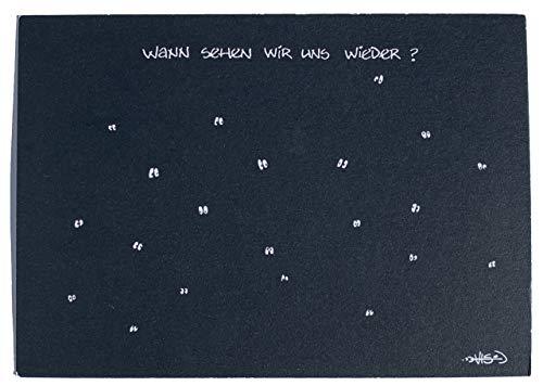 Lustige Postkarte 'Wann sehen wir uns wieder?''