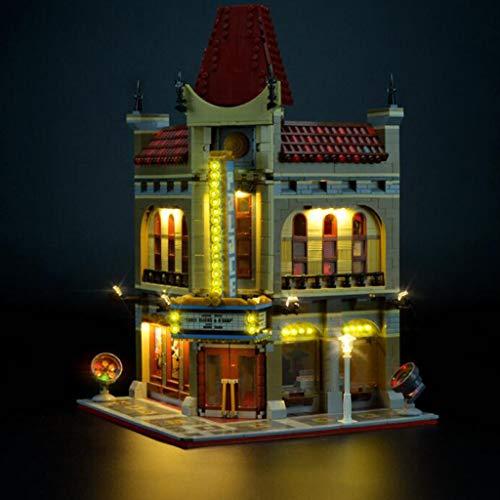 WFTD Kit De Luz LED para El Modelo De Cine Street View Bloques De Construcción Modelo, Compatible con Lego 10232 (NO Incluye EL Set Lego)