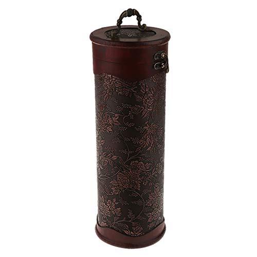 Antike Weinbox Weinflaschen Holzkiste Holzgeschenkbox Aufbewahrung Box für Wein - 1 Flasche A