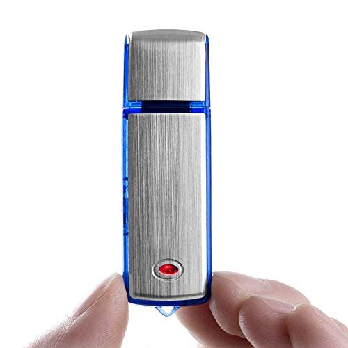 CAM 360 Spy Hidden Digital Voice Audio Recorder Mic Device | Small Size Mini | Portable | High Definition HD | in Built Microphone Mic | Dictaphone | Without Light | 8GB - Pack of 01