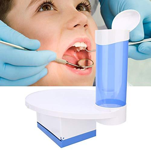 Taza de La Bandeja Del Sillón Dental, 3 En 1 Bandeja Del Escalador de La Silla Dental Portavasos Desechable Con Caja de Pañuelos(Azul)