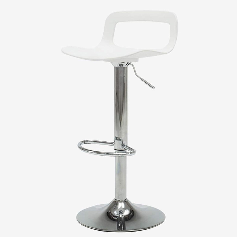 Solid Wood Bar Chair Creative Bar Chair European Bar Stool PVC Bar Chair Simple Retro Bar Stool High Stool Can Be redated to Lift Multifunction (color   White)
