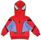 Marvel Little Boys' Spiderman Spidey Suit Hoodie (4T) Red