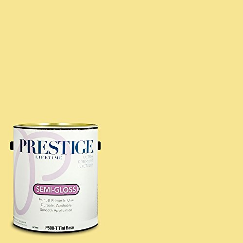 Prestige Paints P500-T-SW6908 Interior Paint and Primer in One, 1-Gallon, Semi-Gloss, Comparable Match of Sherwin Williams Fun Yellow, 1 Gallon