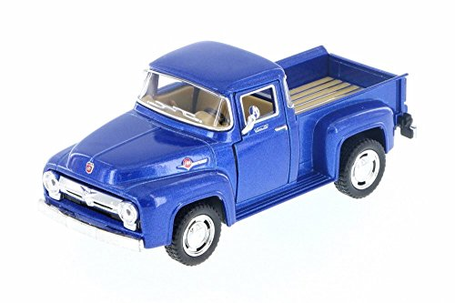 Kinsmart 1956 Ford F-100 Pickup, Blue 5385D - 1/38 Scale Diecast Model Toy Car but NO BOX