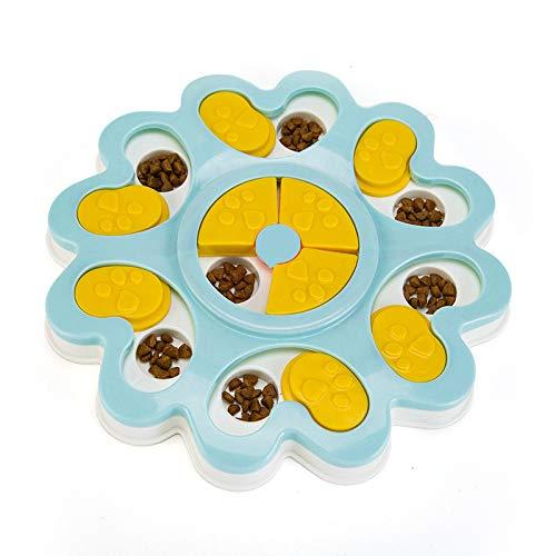 Yowablo Puppy Treat Dispenser Hundespielzeug Hundefutter Puzzle-Spielzeug Bowl Puppy Feeder (24.9 * 3cm,Blau)