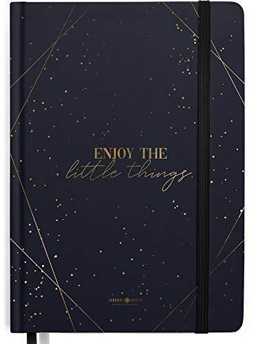 Bullet Journal Notizbuch A5 Dotted von Lebenskompass® - Hardcover Punktraster mit 2 Lesebändchen - Papier cremefarben - Dotted Notebook, Tagebuch, Skizzenbuch, Handlettering & Bullet Journal Buch