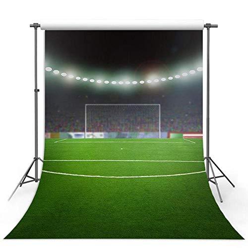 Telones de Fondo Personalizados Campo de fútbol Partido de fútbol luwan Verde Deportes Fondo de fotografía Vintage Telón de Fondo de Photo Booth de Fiesta Disparo de Fondo Telones De Fondo D