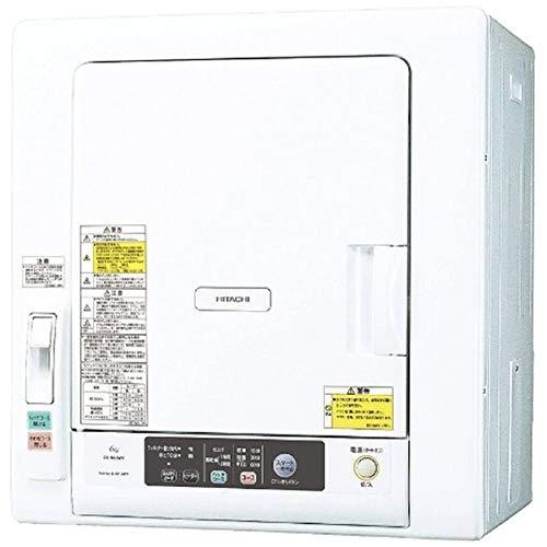 日立 6.0kg 衣類乾燥機HITACHI これっきりボタン DE-N60WV-W